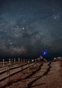 The Milky Way Galactic Core Rising Over Beach Pathway in Avalon 3/13/19