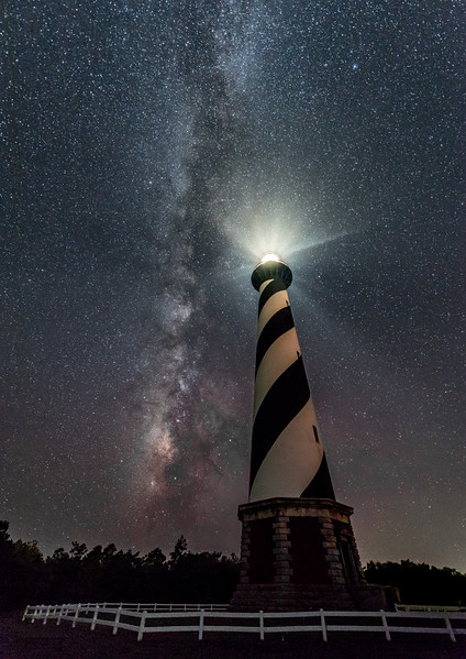 The Milky Way Over The Cape Hatteras Lighthouse 8/16/17