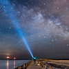 Light Painting With Milky Way Over Barnegat Inlet 3/24/17
