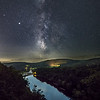 The Milky Way Rising Over The Delaware River At Hawk's Nest, Port Jervis, NY 9/11/20