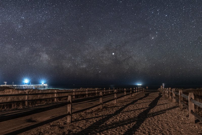 The Milky Way Rising Over The Beach Pathway in Avalon 3/13/19