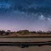 "The Milky Way Arching Over The ""Ghost Tracks"" Railroad on Cape May Beach 3/17/18"
