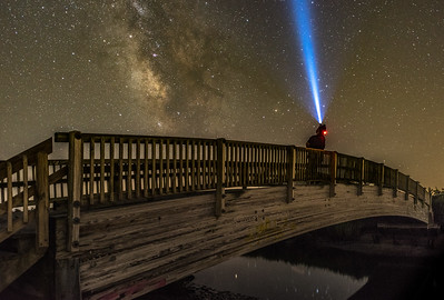 The Milky Way Rising Over Foot Bridge On Southern New Jersey Coast 7/9/18