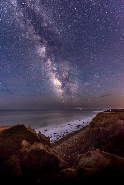 Milky Way Over Cliffs at Montauk Beach 5/3/17