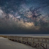 The Milky Way Rising Over Beach Walkway At Assateague Island, MD 5/13/21