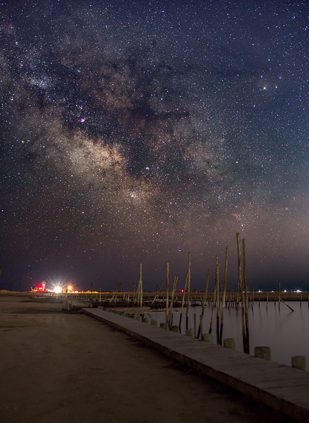 The Milky Way Galactic Core Rising Over Old Marina 4/19/20