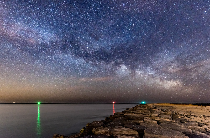 Milky Way Over Barnegat Inlet 3/24/17