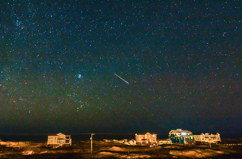 Perseid Meteor Over Corolla 8/11/16