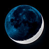 Waxing Crescent Moon with Earthshine 12/21/17