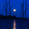Full Moon Rising Over Manasquan Reservoir 3/12/17