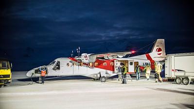 The plane to Ny Alesund