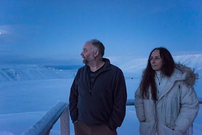 Mark and Patti at the Kjell Henriksen Observatory