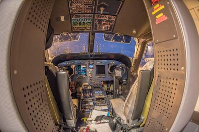 Cockpit of the plane to Ny Alesund