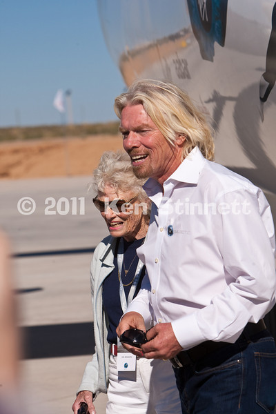 "SpacePort America, Engle, NM.  Hangar Dedication for Virgin Galactic.  Sir Richard Branson, his mother,Eve,  NM Governor Suzanna Martinez, US Rep. Stevan Pearce and more than 100 'prepaid' space tourists and another 500 'invitation only"" guests gathered at SpacePort America in the NM desert for this unique dedication."