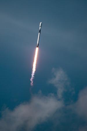 Falcon 9 ascent to orbit
