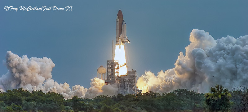 Space Shuttle Atlantis Clears the Tower for the Last Time