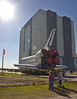 Atlantis inches closer to the VAB.