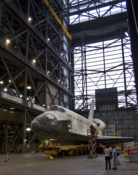 This wide shot still does not show how massive the VAB really is.