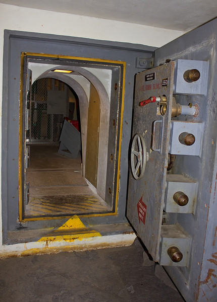 This is actually the exit from the emergency bunker into the air handling facility.