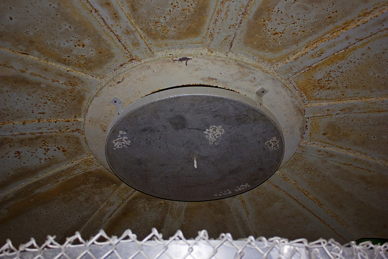 The top of the bunker dome