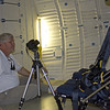 George Fleenor shooting fisheye images on the Mid-Deck of Atlantis