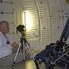 George Fleenor shooting fisheye images on the Mid-Deck of Atlantis