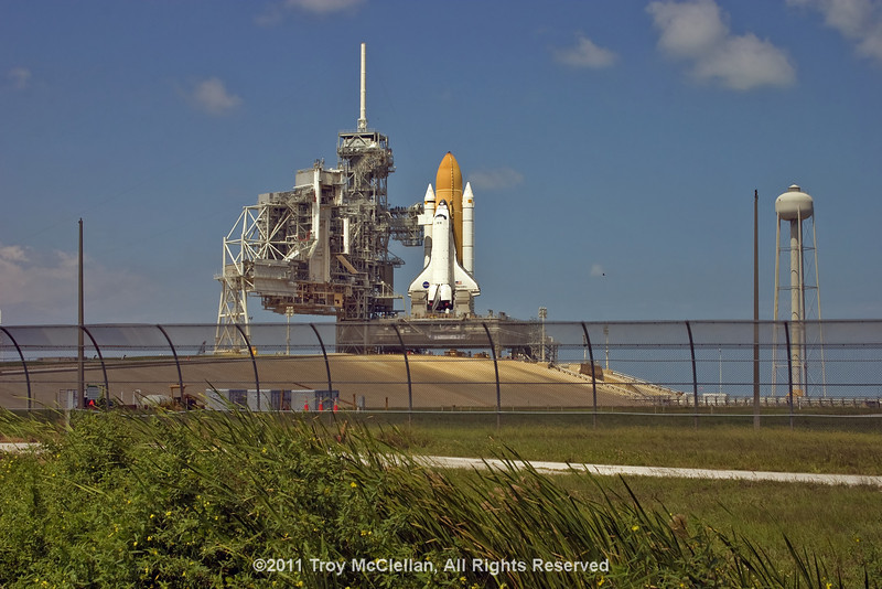 Discovery on pad 39A on a hot September afternoon.