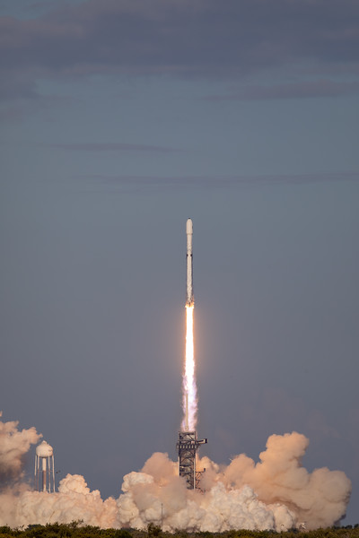 SpaceX Falcon Heavy Lift-Off from Pad 39A at Kennedy Space Center on Merritt Island