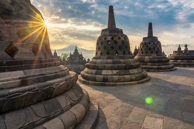 During our  travels through Indonesia, I only had one chance to photograph Borobudur Temple located in central Java. The sun finally managed to squeeze through the clouds and I was happy I managed to capture a scene with no people in it. I must say It was extremely irritating to have people walk in front of my setup with their Ipads! All said, when you travel on a tight schedule with no second chances, you take what you can get!