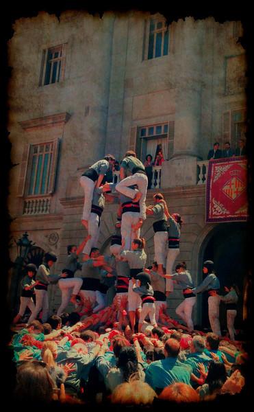 Human tower 1, Placa de Jaume 1, (Barcelona Corpus Christi tradition)
