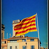 Catalonian flag, Placa de Catalunya, Girona