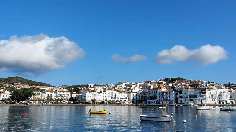 Views of Cadaqués from our sailboat on Cap de Creus Natural Park