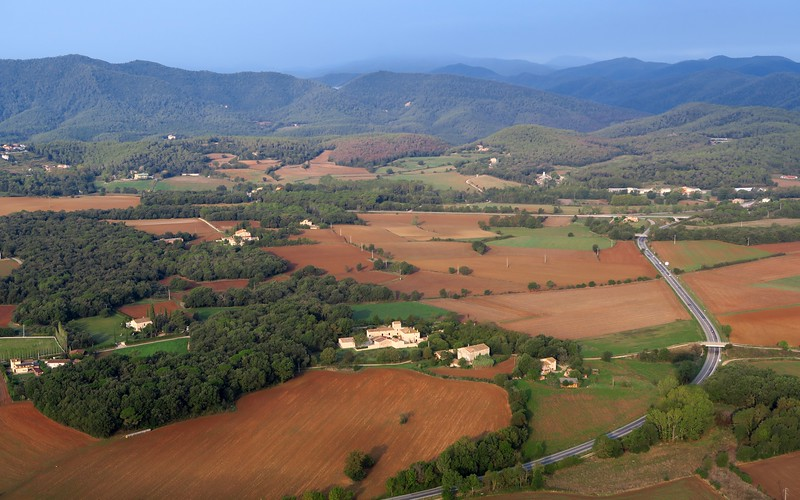 Scenic countryside views during our hot air balloon ride