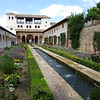 Elaborate water gardens are a highlight of the Generalife Palace.  The fountains were built before mechanical pumps and relied on gravity for water pressure.