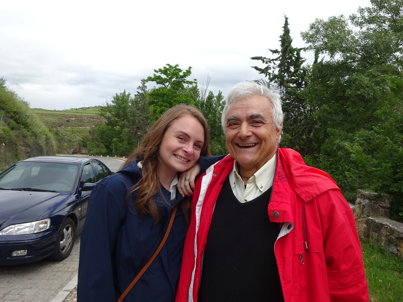Hayley, with our dear friend Manolo Perlado.  Manolo is the Director of the Nuclear Fusion Institute at the University of Madrid and a colleague of mine from my days at LLNL.  His home town is Segovia and he generously spent the day showing us his beautiful city.