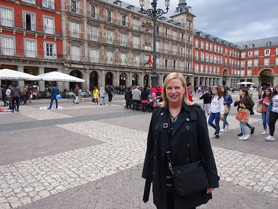 Our apartment in Madrid is near Plaza Mayor, a great historic area, filled with restaurants and beautiful buildings.
