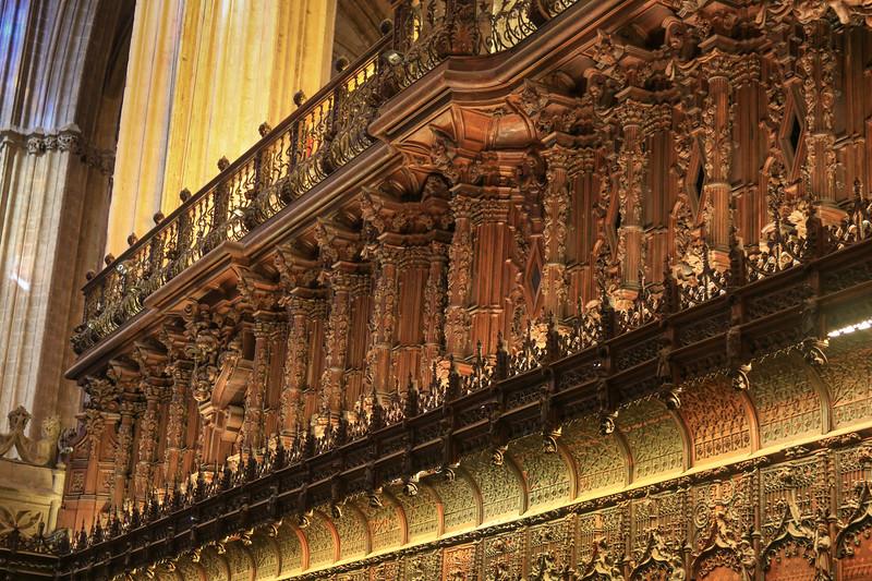 Seville cathedral choir loft.