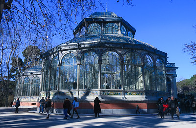 Crystal Palace, Madrid. Built in 1887 for an Exposition on the Phillipines (then a Spanish Colony) it is now only used for occasional art exhibits.