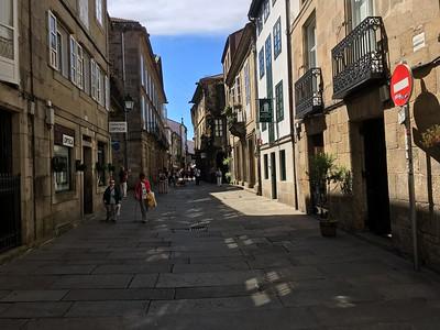 Streets in Santiago de Compostela