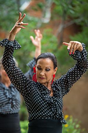 Spain Connection Flamenco Show at Wally's house on August 10, 2019.  Show featured  Salli Gutierrez (Bailaora), Steve Mullins (Guitarrista), Marisa Perez (Cantaora), Marisol Serrano (Cantaora), and Salli's students.