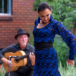 Spain Connection Flamenco Show at Wally's house on August 10, 2019.  Show featured  Salli Gutierrez (Bailaora), Steve Mullins (Guitarrista), Marisa Perez (Cantaora), Marisol Serrano (Cantaora), and Salli's students.