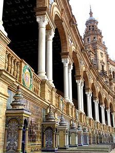 Province ceramic tiles, Sevilla, Spain