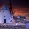 Sunset, Windmills And Castle, Conseugra