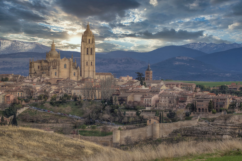 Cathedral From Field, Segovia