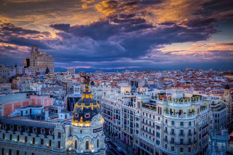 Madrid At Dusk