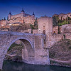 Dusk, Alcantara Bridge, Toledo
