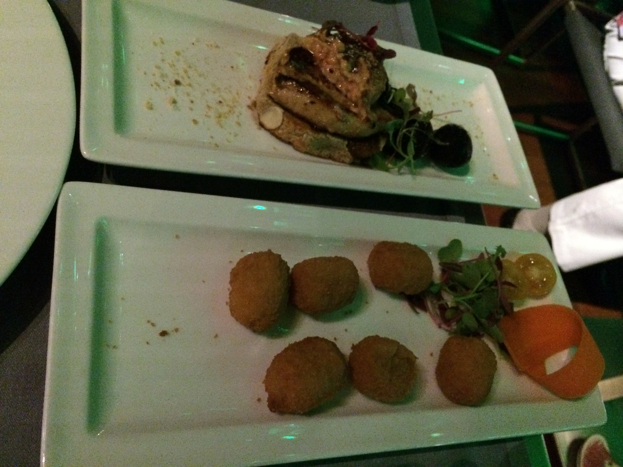 Foie Gras(top) and croquettes(bottom). Delicioso!