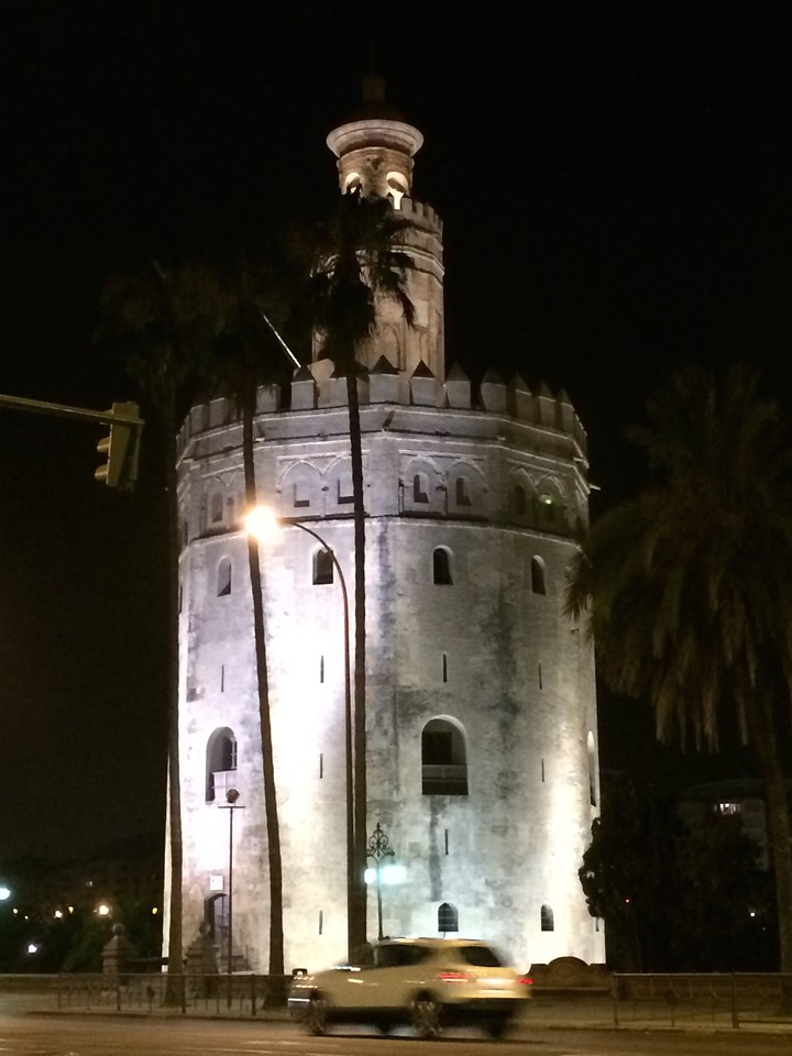 Torre del Oro(English: Gold tower) of Seville. Built in the early 13th century by the Almohad(Muslim) dynasty to control access to Seville through<br />  Guadalquivir River.