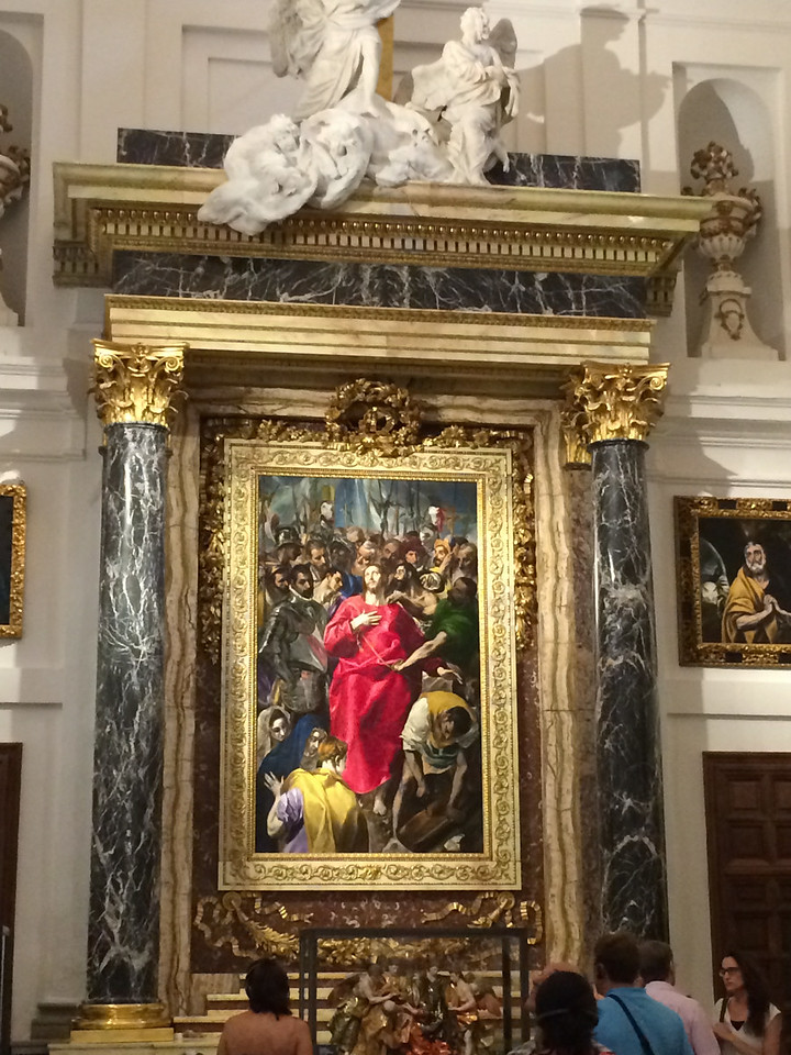 Famous painting by El Greco. The room next door houses paintings from other master painters such as Rubens, Titian, etc.