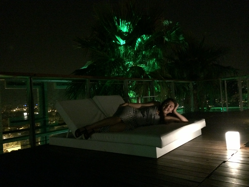 Lindsey lounging!